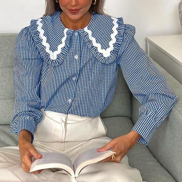 Amber Ruffled Collar Top