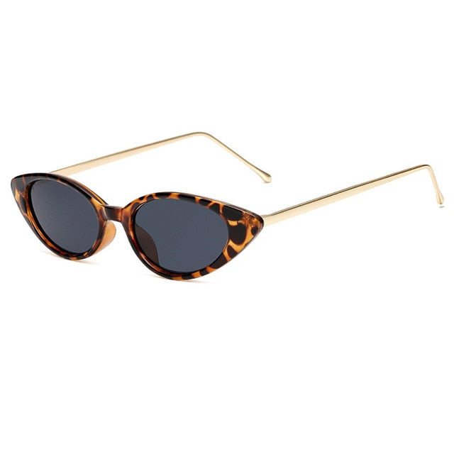 Gold Frame Cat Eye Sunglasses