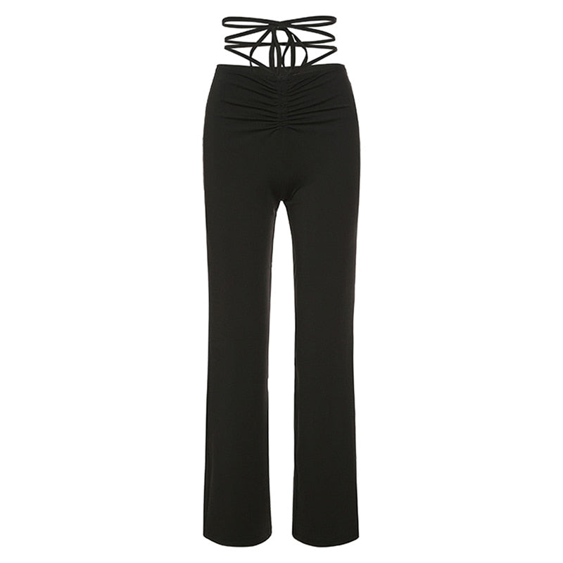 Lace Up Stretch Pants