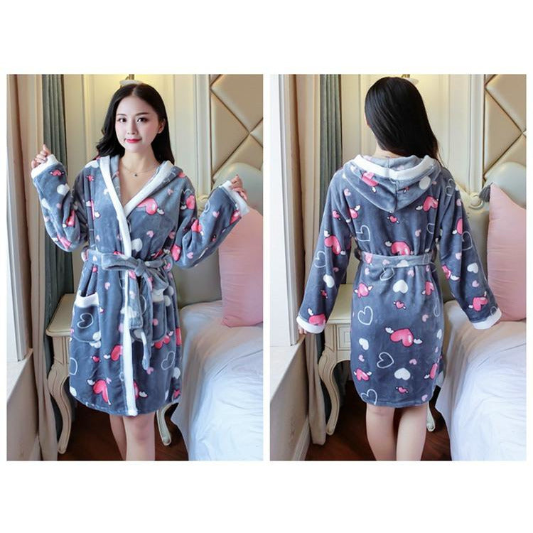 Cozy Heart Robe