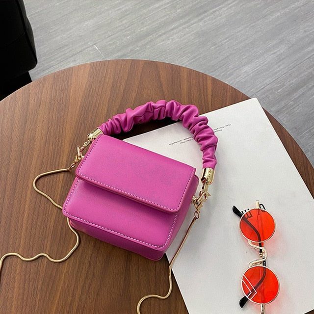 Ruffle Handle Mini Bag