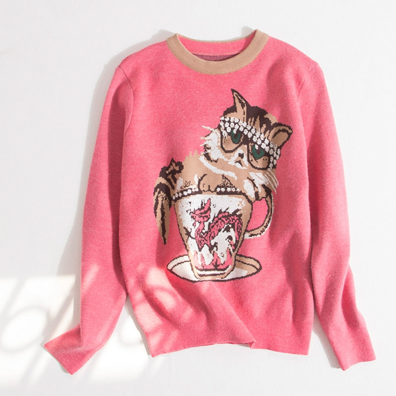Tea Cup Cat Sweater