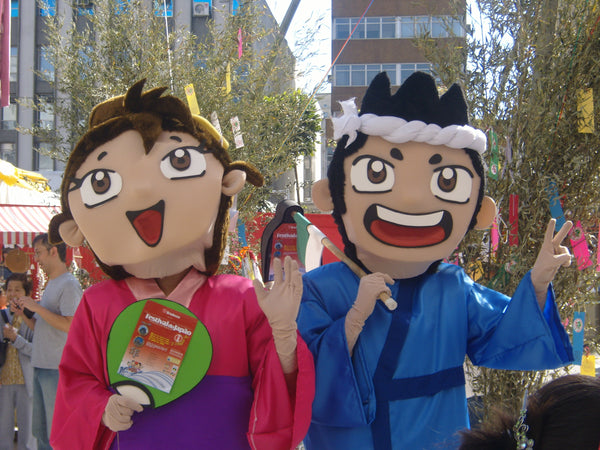 Orihime and Hikoboshi loving the Tanabata Festival in Japan