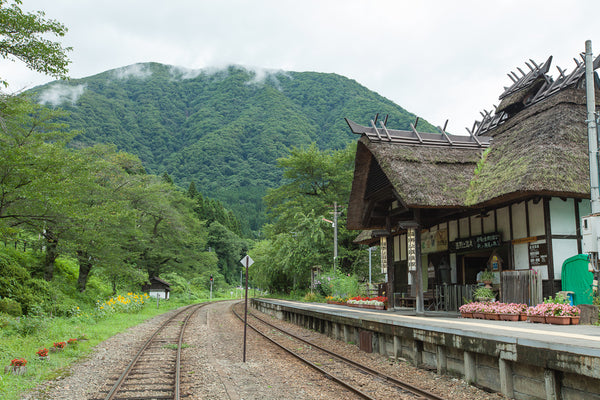 small town rural Japanese train station