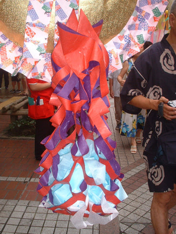 Paper trash bag, kuzukago, for Tanabata Festival in Japan