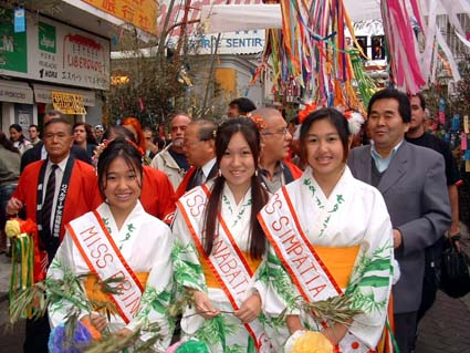 Miss Tanabatas from the Tanabata Festival in Japan