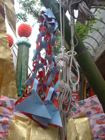 Paper net, toami, for Tanabata Festival in Japan