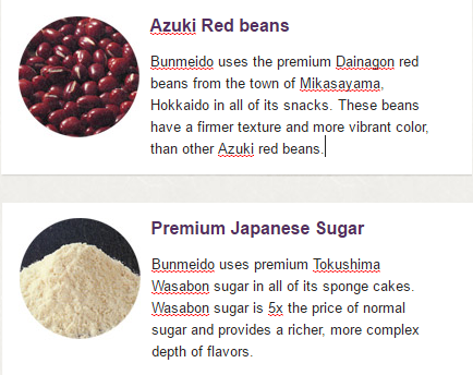 quality Japanese snack ingredients