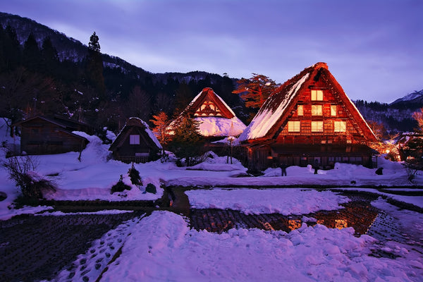 shirakawa japan snow beautiful