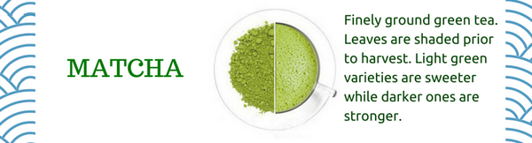 Matcha japanese green tea