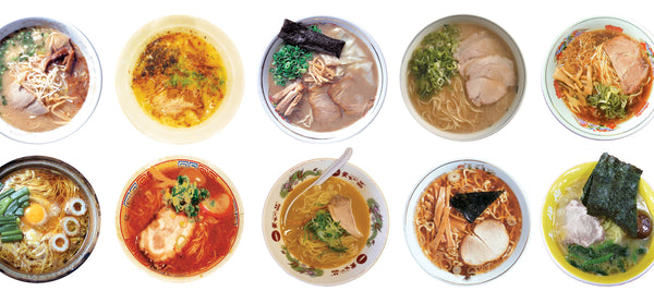 different types of ramen