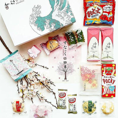 sakura snacks from Japan