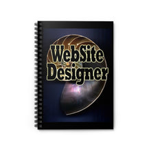 Load image into Gallery viewer, Website Designer Nautilus Style Spiral Notebook