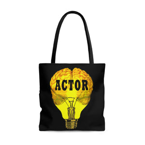 Actor Brain Bulb Style Tote Bag