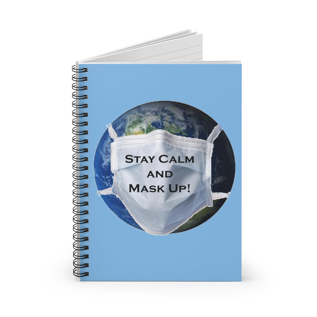 Earth Mask  Spiral Notebook