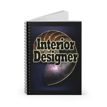 Load image into Gallery viewer, Interior Designer Nautilus Style Spiral Notebook