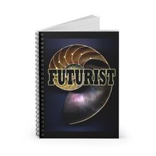 Load image into Gallery viewer, Futurist Nautilus Style Spiral Notebook