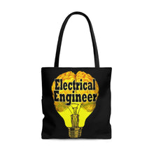 Load image into Gallery viewer, Electrical Engineer Brain Bulb Style Tote Bag