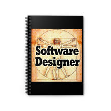 Load image into Gallery viewer, Software Designer DaVinci Style Spiral Notebook