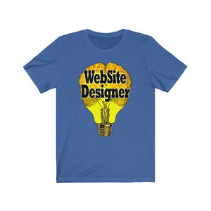 Website Designer Brain Bulb Style Tee