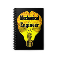 Load image into Gallery viewer, Mechanical Engineer Brain Bulb Style Spiral Notebook