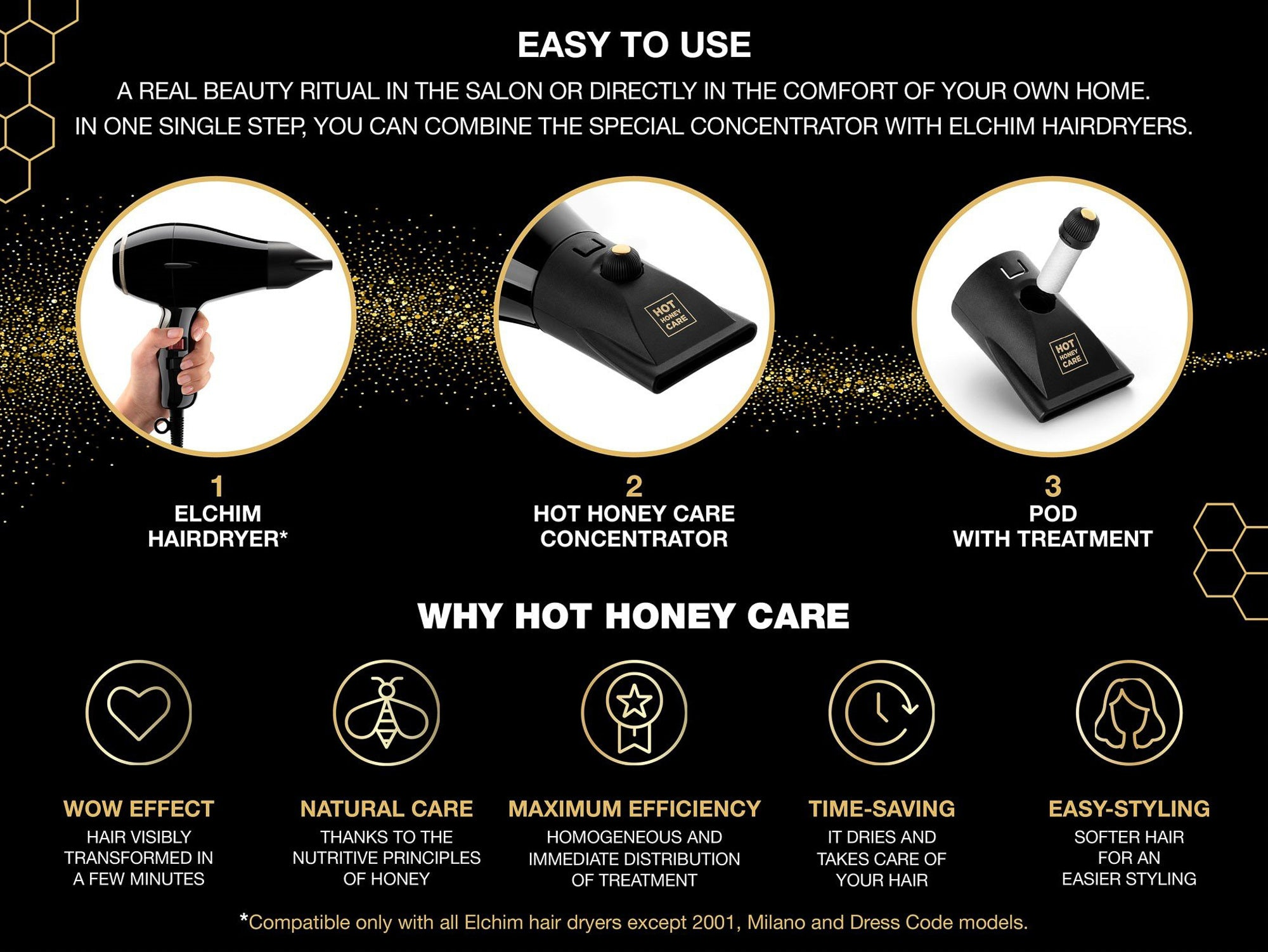 *NEW* 8th Sense RUN Blow Dryer (Lily Rose) + FREE Hot Honey Care Concentrator