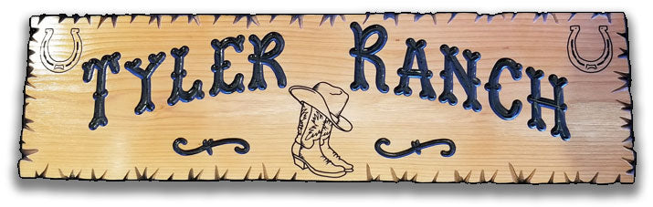 Calico Wood Signs - Cowboy