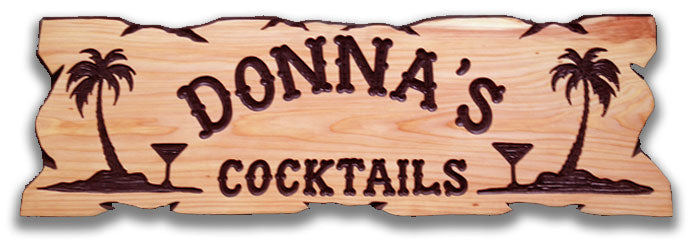 Calico Wood Signs - Palms and Drinks