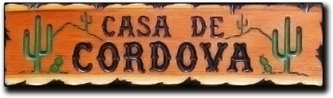 Calico Wood Signs - Desert Cactus