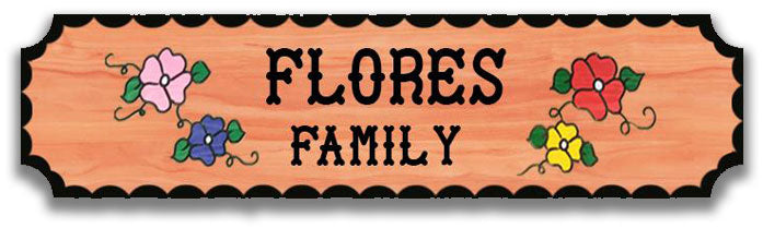 Calico Wood Signs - Flower