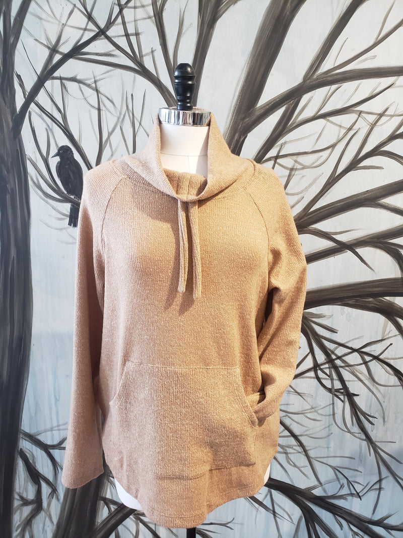 Drawstring Cowl Neck Sweater