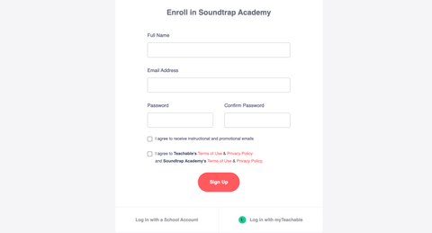 An image of the form required to enroll to become a Sound Trap certified educator.
