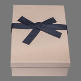 Kraft box, black tissue paper, black cloth ribbon