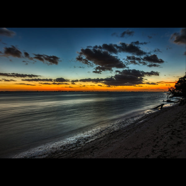 Just before sunrise on Lighthouse Beach. Sanibel, Florida