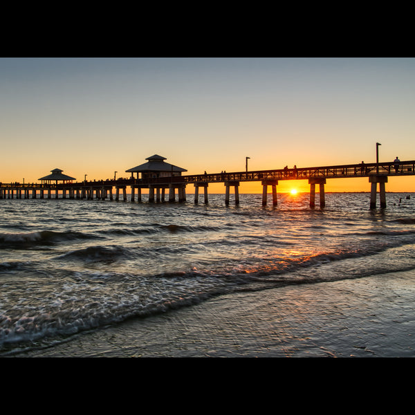 Sunset over the Fort Myers Beach Fishing Pier
