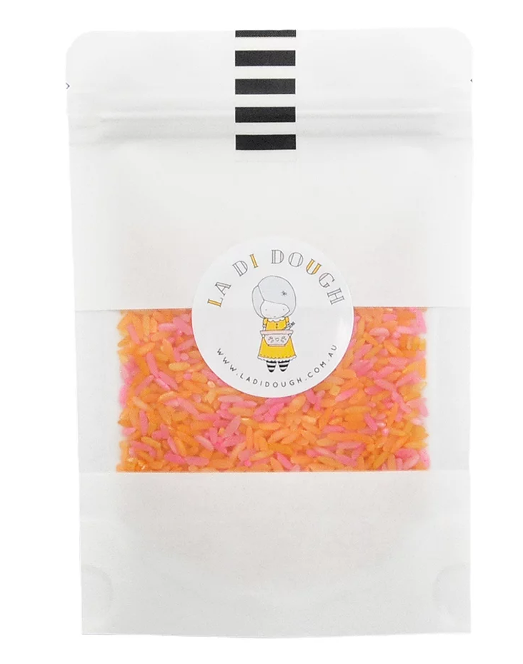 Tutti Frutti scented, Coloured Rice Sprinkle Mix.