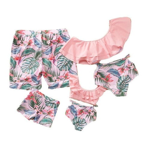 Pink Palm Matching Sets for the Family