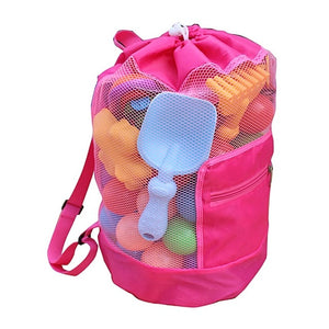 Waterproof Packable Mesh Bag for Carrying Beach Toys and Shells
