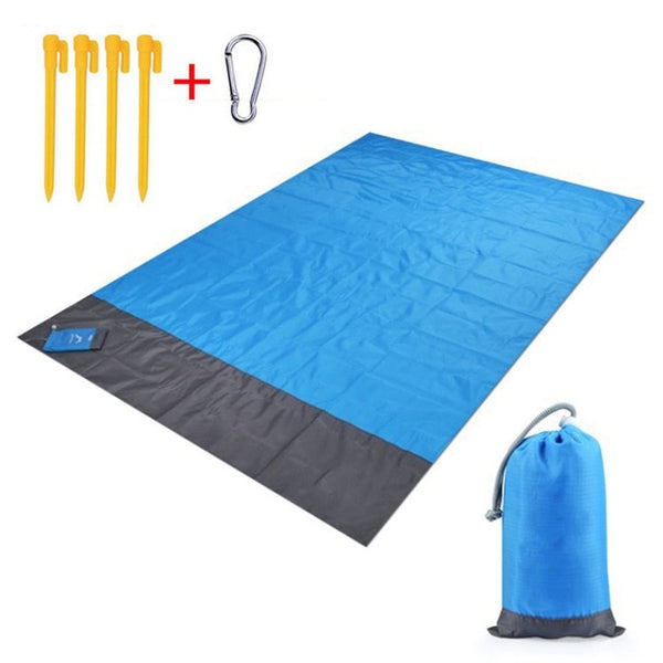 Portable Sand Blanket with Bag and Stakes
