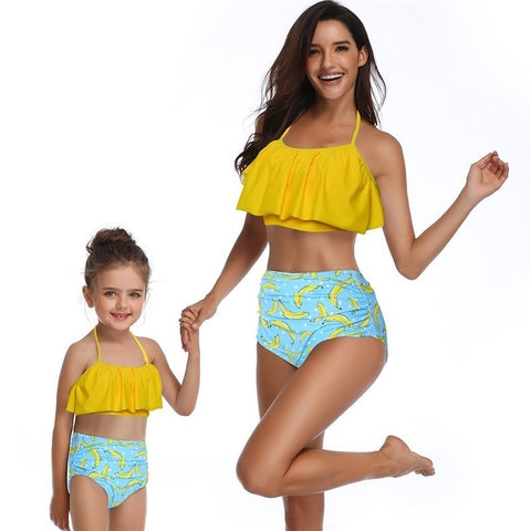 Going Bananas Matching Swimsuits Mommy and Me