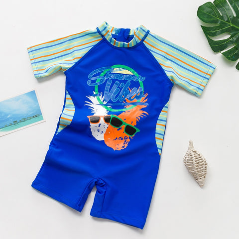 Pineapple Dude Rash Guard Swim Suit