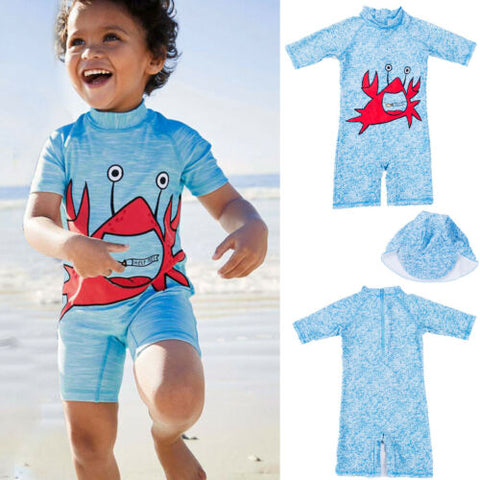 Crabby Rash Guard Outfit