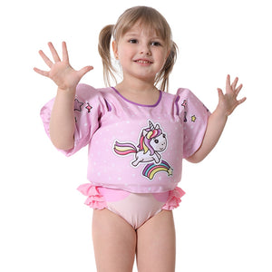 Super Cute Pink Unicorn Puddle Jumper with Shoulder Straps (2-6 Years Old)