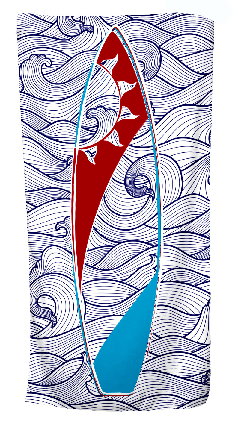 UPF 50 Towel/Wrap - Surf's Up