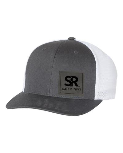 Snap Back Trucker Cap Grey/White