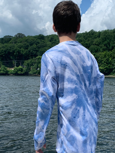 YOUTH UPF 50 Shirt- Tie-Dye Blue