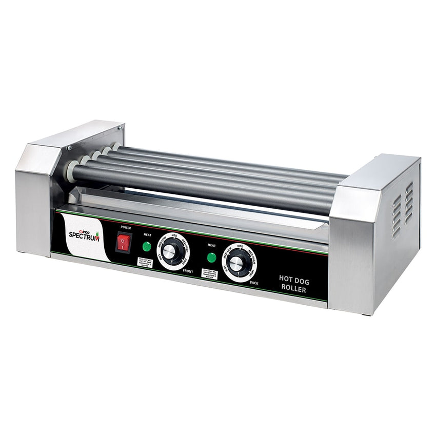 Winco 12 Hot Dog Roller Grill - Flat Top, 110v