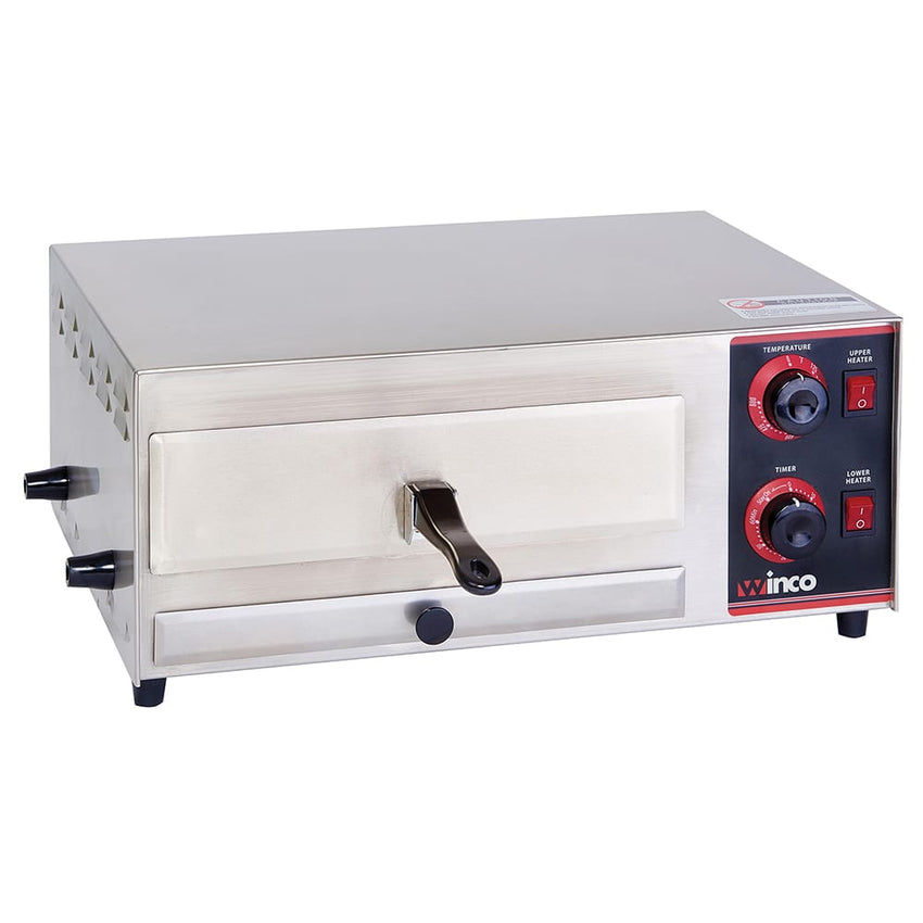 Winco Countertop Pizza Oven - Single Deck, 120v