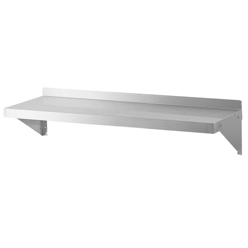 "Turbo Air Stainless Steel Solid Wall Mounted Shelf, 60""W x 12""D - Richard's Supply Inc"