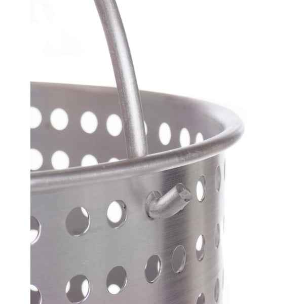 80 quart pot, w/ basket and lid